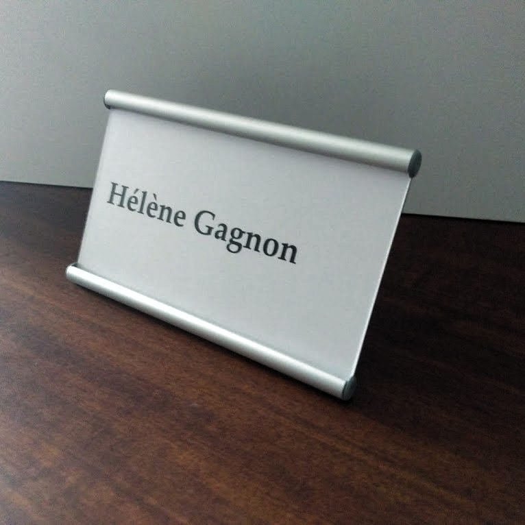 Desk Name Sign Designed by Opna